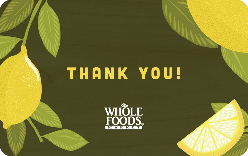 Whole Foods Market Gift Cards 2013