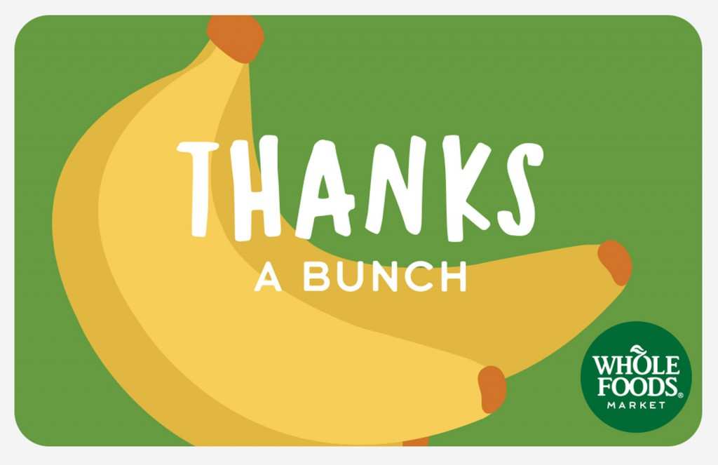 Jill Visit Whole Foods Market Gift Cards 2016 - Jill Visit